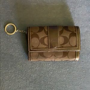 Coach wallet with key holder